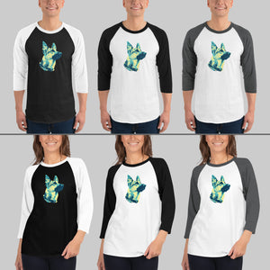 Custom Raglan Tri-Tone Design  - To Feature Your Own Beloved Pet!