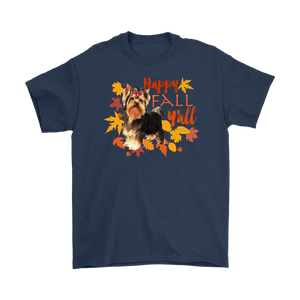 Happy Fall Y'all Yorkshire Terrier Unisex T-Shirt