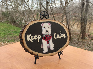 Keep Calm - Pet Portrait Handpainted Acrylic Painting