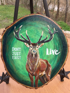 Don't Just Exist, LIVE - Handpainted Acrylic Painting