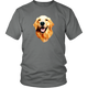 Golden Retriever Smiling Apparel (T-Shirt, Raglan, Tank, Long Sleeve, Hoodie, Tri-blend)