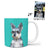 Custom Mug - Feature Your Own Dog - Teal Background