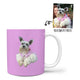 Custom Mug - Feature Your Own Pet - Pink Background