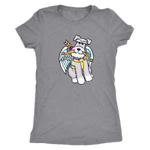 Schnauzer Cupid #2 Women Triblend T-Shirt