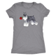 Miniature Schnauzer Red Rose Valentine Women Triblend T-Shirt