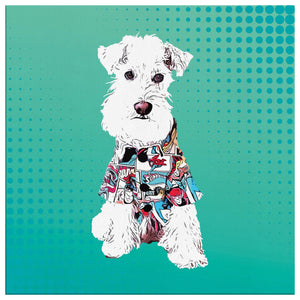Custom Pet Portrait Canvas - Pop Art Background Style 1