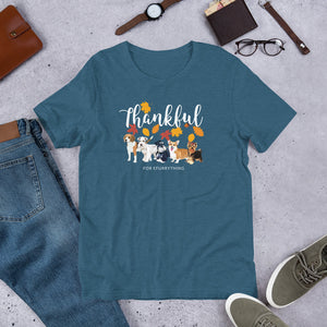 Thankful for Efurrything Thanksgiving Autumn/ Fall Season Short-Sleeve Unisex T-Shirt