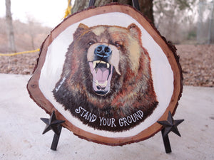 Stand Your Ground - Handpainted Acrylic Painting