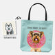 Custom DONUT WORRY, BE HAPPY Tote Bag