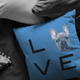 French Bulldog - LOVE Pillow
