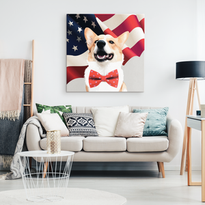 Custom Canvas - American Flag