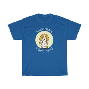 Namastay 6 Feet Away Beagle Yoga Dog Social Distancing Cotton Tee Unique Yoga Shirt