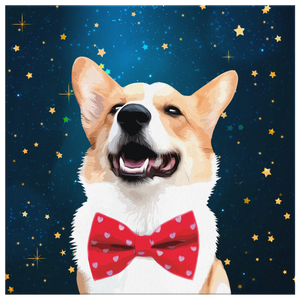 Custom Pet Portrait Canvas - Starry Night
