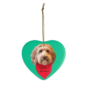 Custom Ornament - We Add Red Bandana & Name of Your Pet!