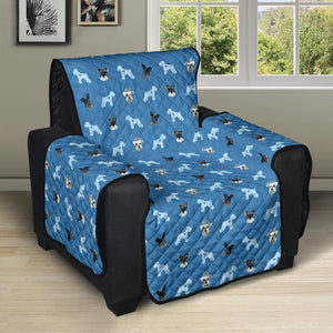 "Custom 28"" Recliner Sofa Protector - Pet Face Pattern (Background color can be anything)"