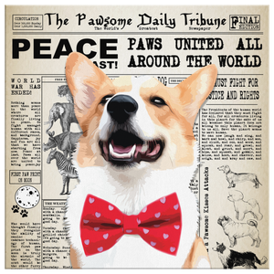 Custom Pet Canvas - Pawsome Daily Tribune Newspaper