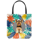 Yorkshire Terrier - Colourful Leaves - Tote Bag
