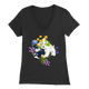 Unisex T-Shirt - Schnauzers with Spring Flowers Design