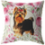 Yorkshire Terrier - Roses Garden - Pillow