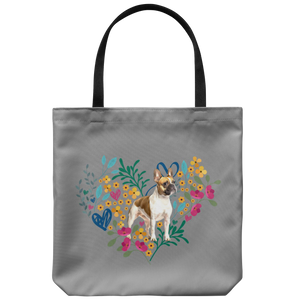 French Bulldog - Heart Shape Flower Garden