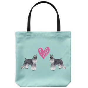 Schnauzer - Twins Love - Tote Bag