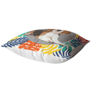 Beagle #2 Colorful Leaves Pillow