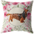 Long Haired Dachshund - Roses Garden Pillow