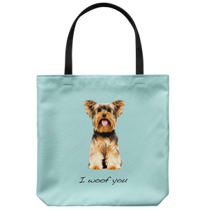 Yorkshire Terrier - I Woof You - Tote Bag