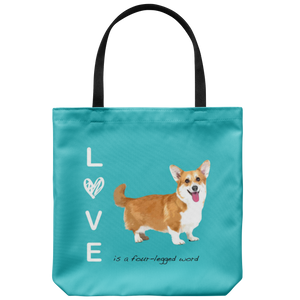 Custom - Love is a four-legged word - Tote Bag