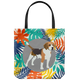 Beagle Colorful Leaves Tote Bag