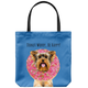 Yorkshire Terrier - DONUT WORRY, BE HAPPY Tote Bag