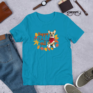 Cute Corgi Happy Fall Y'all Short-Sleeve Unisex T-Shirt