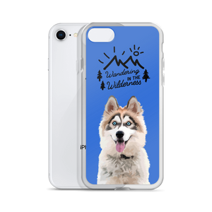 "Siberian Husky ""Wandering in the Wilderness"" Iphone Case"