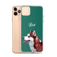 Custom iPhone Case - Featuring Your Own Pet - Any background color of your choice