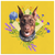 Doberman Spring Flowers Square Canvas