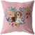 Beagle #2 Heart Shape Flower Pillow