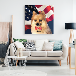 "Order No #1079 Allyson Whitney - Chance The Pomeranian 16x16"" Canvas"