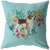 Beagle Heart Shape Flower Pillow