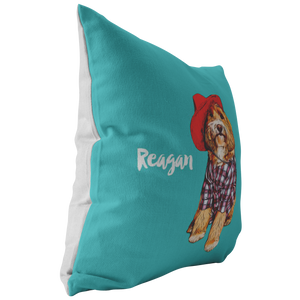 Custom Pillow - Pet's Name (Background color can be anything)