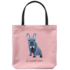 French Bulldog - I Woof You - Tote Bag