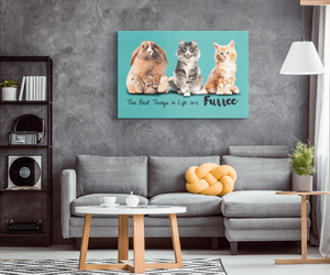 Custom The Best Things in Life are Furree Rectangular Canvas