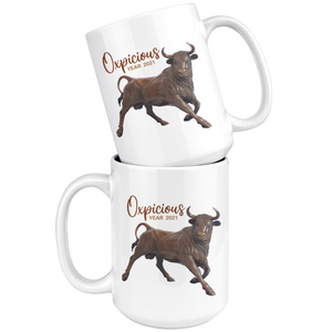 Oxpicious Mug #2, Year of the Ox Mug, Year 2021 Mug, Lunar New Year 2021 Mug