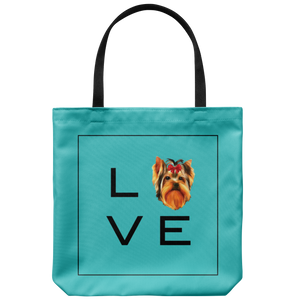 Yorkshire Terrier - LOVE Tote Bag