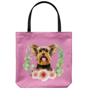 Yorkshire Terrier - Beautiful Wreath - Tote Bag