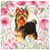 Custom Pet Portrait Canvas - Roses Garden Style