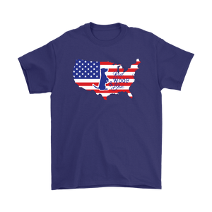 Patriotic Jack Russell 2 Red Woof Blue Unisex T-Shirt - 4th July Independence Day - American FLag