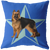 German Shephard Big Star Pillow