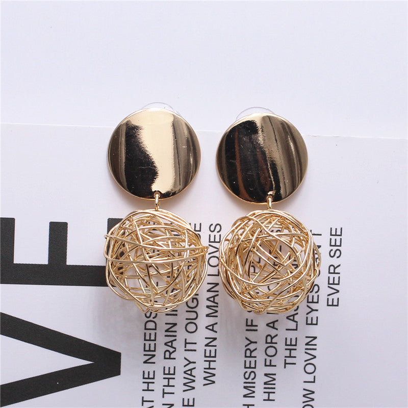 Golden Cage Earrings