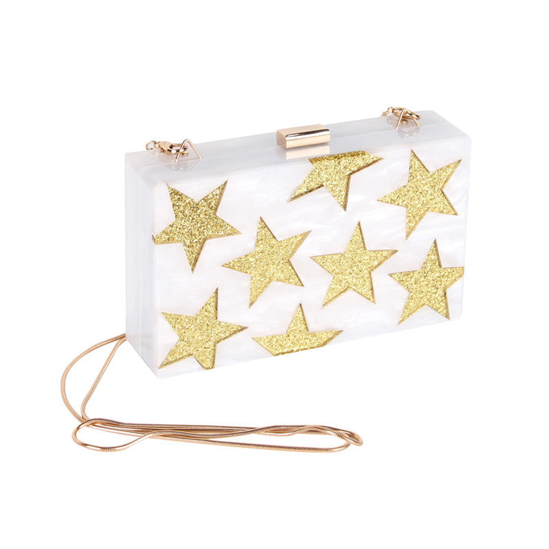 Star Pattern Acrylic Clutch