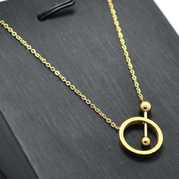 Simple Geometric Pendant Necklace